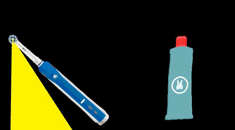 LED歯ブラシと酸化タングステン、酸化チタン配合のホワイトニング商品が必要