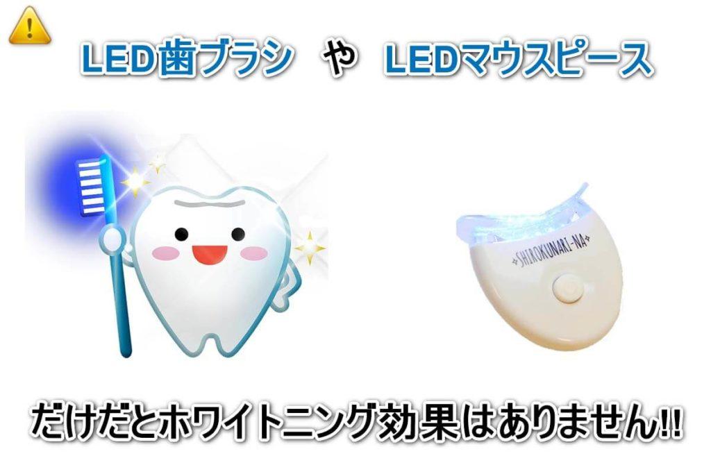 LED歯ブラシやLEDマウスピースだけでは効果がないことを示した図1