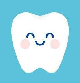 にこにこした歯