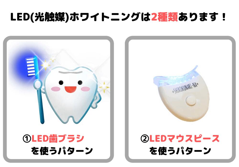 LED(光触媒)ホワイトニングは2種類あります!